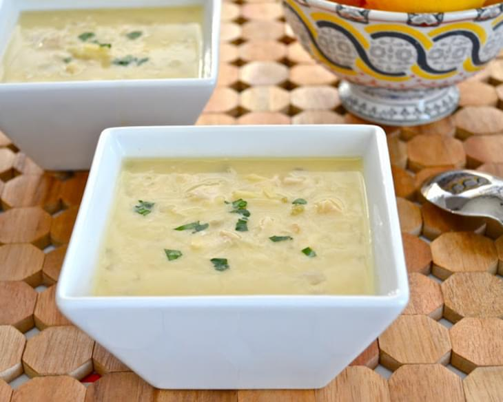 Greek Egg-Lemon Soup (Avgolemono)