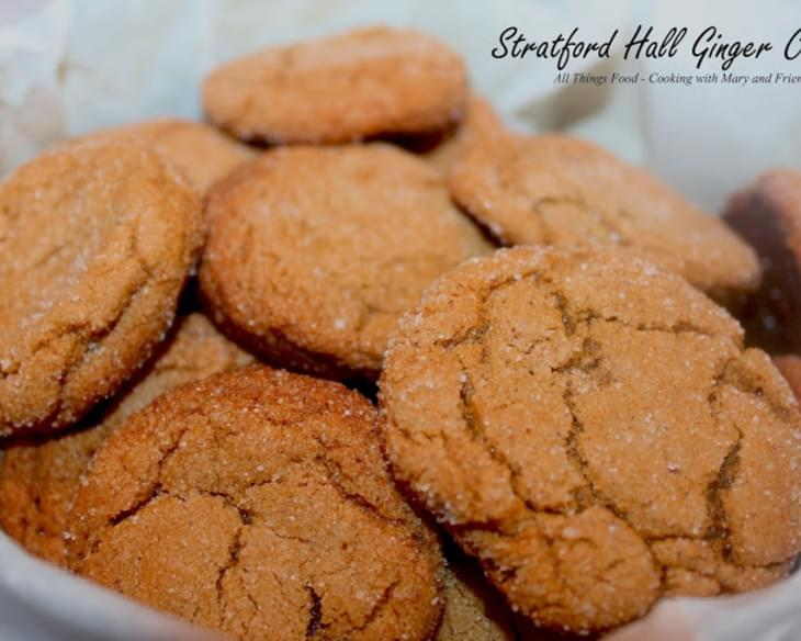 Stratford Hall Ginger Cookies
