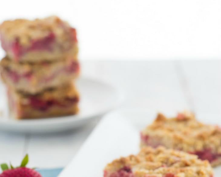 Strawberry Oat Crumb Bars