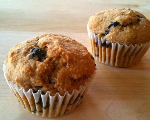 Whole Wheat Fresh Blueberry Muffins