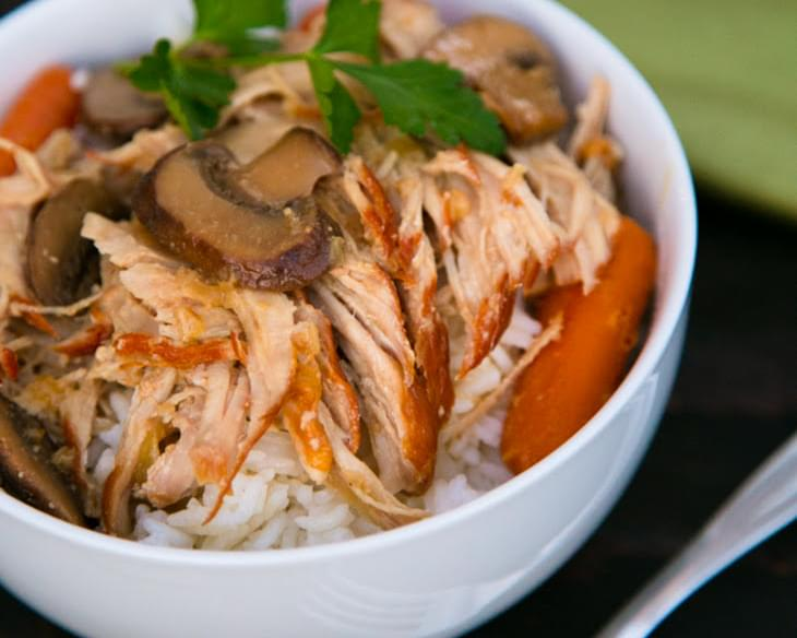 Shredded Pork in a Mushroom Sauce; A Slow Cooker Recipe!