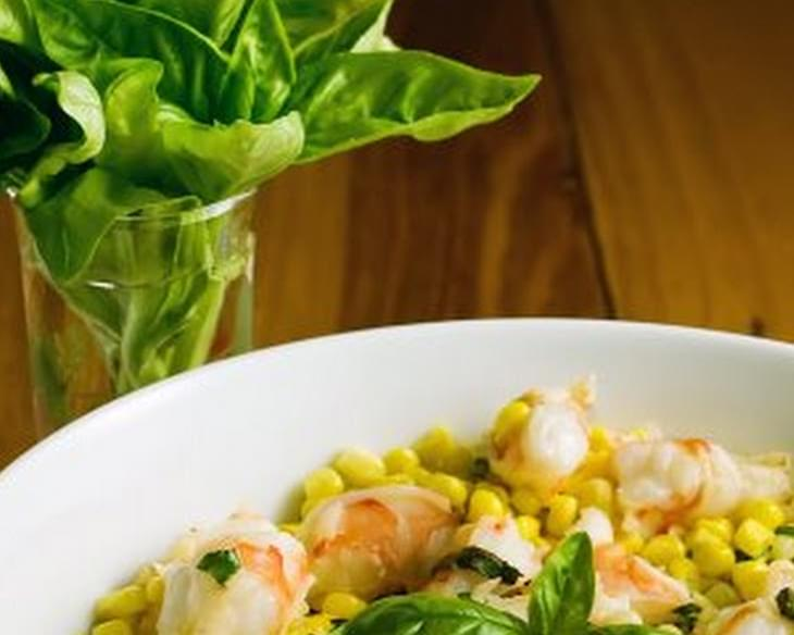Shrimp with Corn and Basil