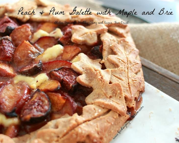 Peach & Plum Galette with Maple and Brie