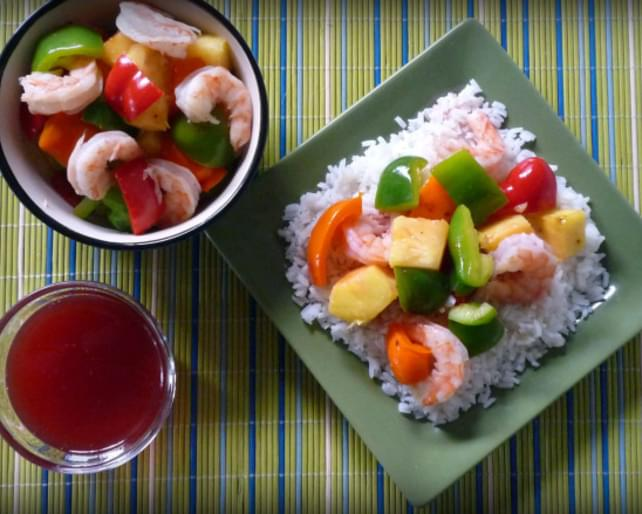 Light Sweet and Sour Shrimp