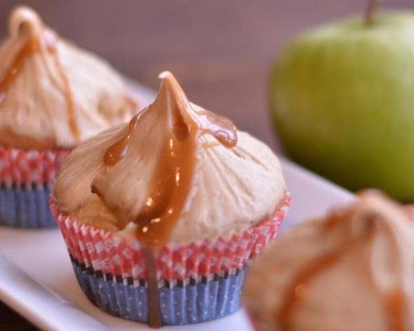 Caramel Apple Cupcakes with Caramel Icing