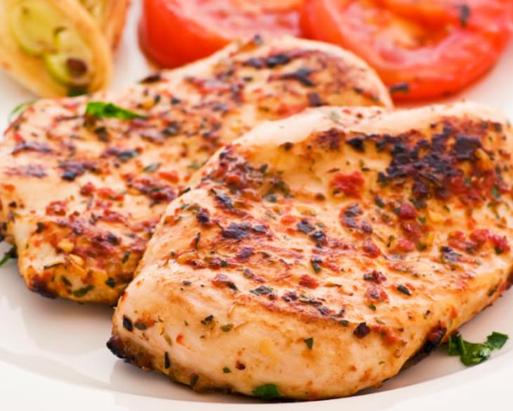Red Pepper And Herb Grilled Chicken