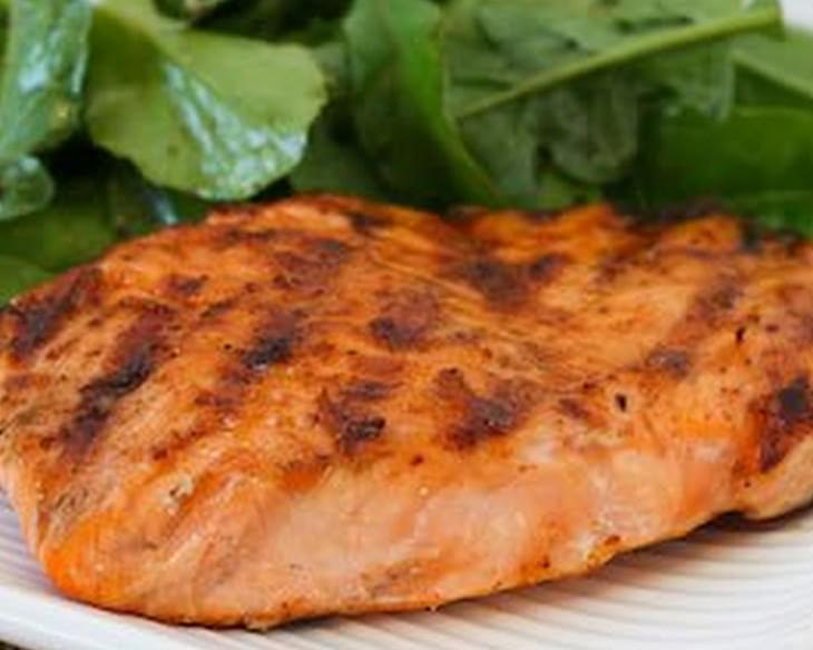 Grilled Salmon with Maple Syrup Glaze