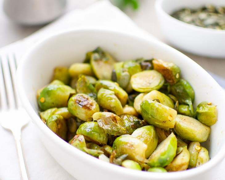 Tender Sweet and Sour Brussels Sprouts