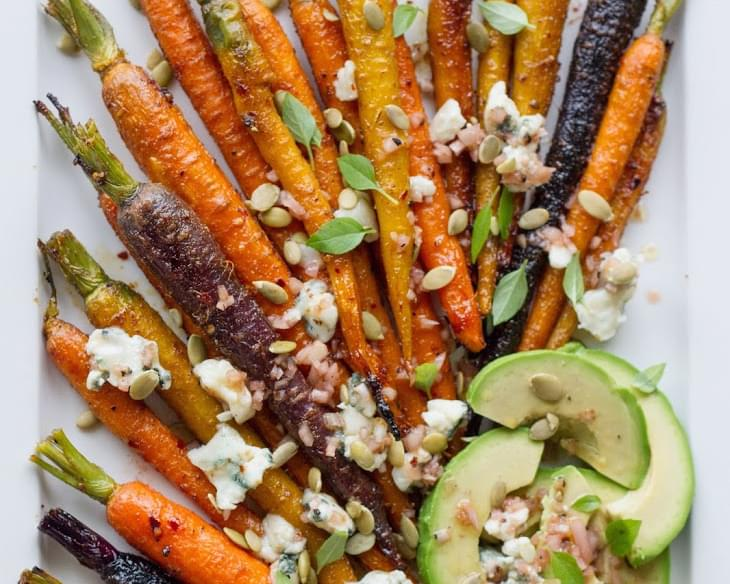 Roasted Carrots With Avocado And Vinaigrette Recipe