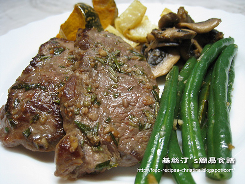 Pan Fried Lamb Leg Steak With Rosemary Recipe