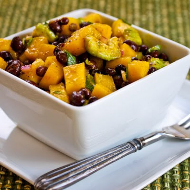 Mango Salad with Black Beans, Avocado, Mint, and Chile-Lime ...