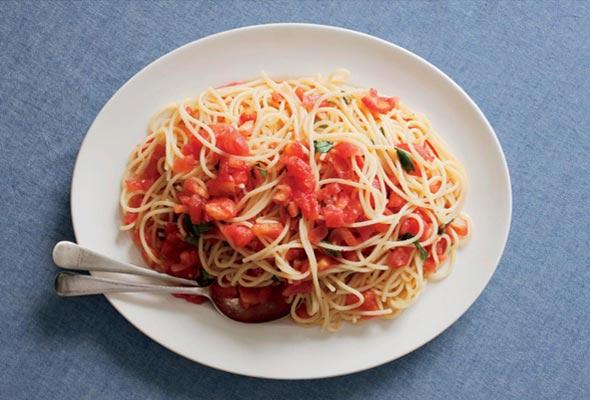Spaghetti With Raw Tomatoes Recipe