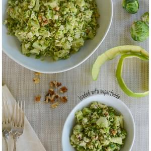 Brussels Sprouts & Apple Salad with Blue Cheese