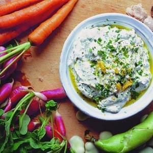 Herbed Ricotta Dip with Spring Vegetables