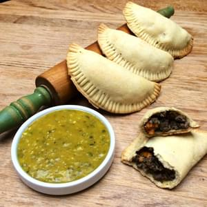 Wild Venison Sweet Potato Meat Pies with Orange Jalapeño Dipping Sauce