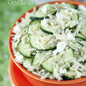 Zucchini, Feta and Lemon Orzo Salad