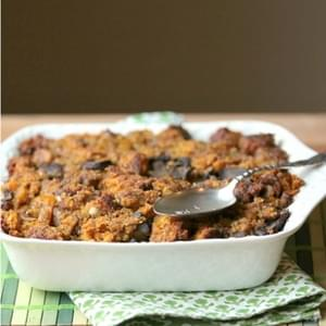 Healthy Pumpkin Cornbread Stuffing – Low Calorie, Low Fat