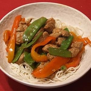 Hoisin Pork & Snow Pea Stir Fry
