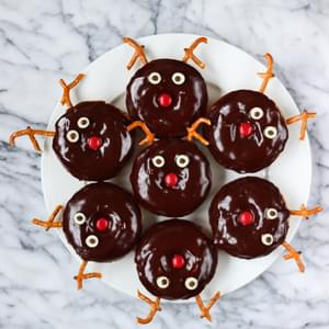Chocolate Frosted Reindeer Donuts