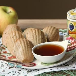 Mini Maple Cinnamon Apple Pancake Dippers with Apple Cider Syrup