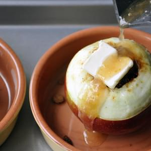 Baked Apples with Apricot Glaze