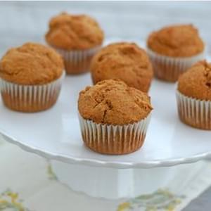 Whole Spelt Pumpkin Muffins (Pictured Above)