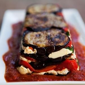 Eggplant and Red Pepper Terrine