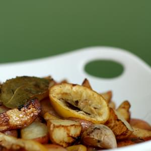Roasted Baby Red Potatoes With Lemon And Bay Leaves