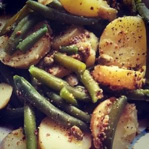 Green Bean & Potato Salad dressed in Mustard