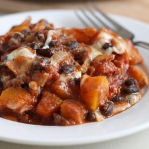 Butternut Squash And Black Bean Skillet
