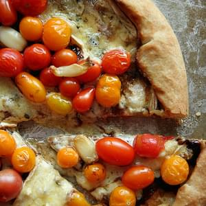 Blue Cheese, Balsamic and Cherry Tomato Pizza