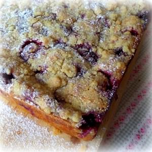 Blackberry Pie Bars . . .