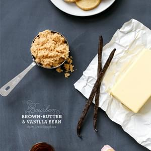 Bourbon, Brown Butter, and Vanilla Bean Shortbread Cookies