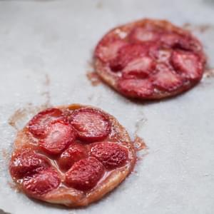 Strawberry Tarte Tatin with Balsamic Caramel