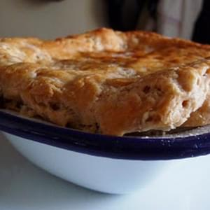 Suet Crust Topped Minced Beef And Onion Pie