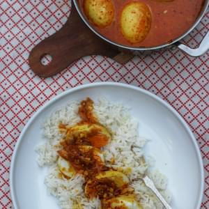 Caramelised Onion, Coconut & Egg Curry