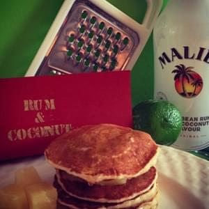 Rum and Coconut Pancakes