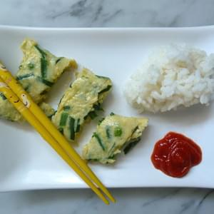 Eat Your Flowers! Chive Flower Omelet