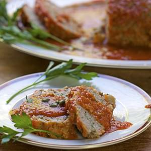 SICILIAN TURKEY MEAT LOAF with POTATOES CAPERS and WINE
