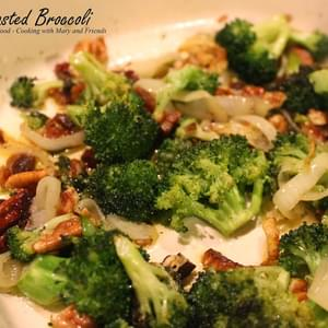 Roasted Broccoli with Onions and Bacon