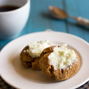 Pumpkin Spice Thumbprint Cookies