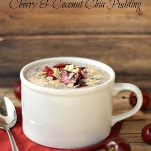 Cherry and Coconut Chia Pudding
