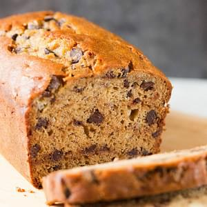 Peanut Butter-Banana Bread with Chocolate Chips