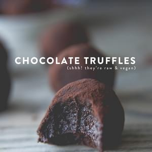 RAW + VEGAN CHOCOLATE TRUFFLES