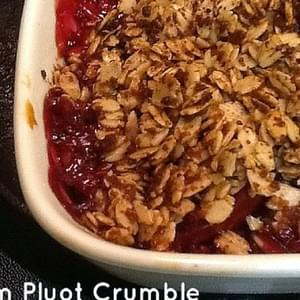 Plum and Pluot Crumble- GlutenFree