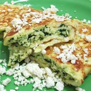 Savory Spinach Ricotta Crepes (for South Beach Phase 1)