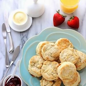Buttermilk Biscuits with Salty Honey Butter