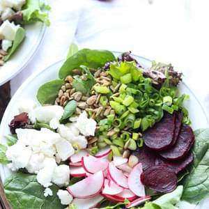 Beet and Feta Salad with Sunflower Vinaigrette