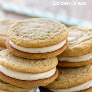Soft Homemade Golden Oreos
