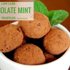 Low Carb Chocolate Mint Truffles